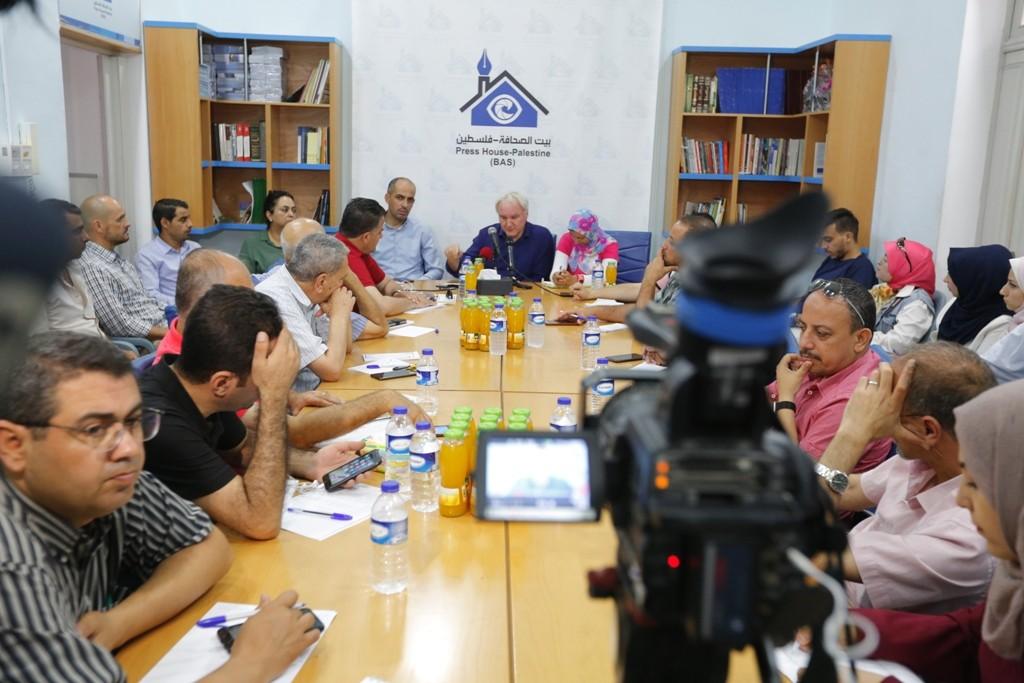 بيت الصحافة ينظم لقاء واجه الصحافة مع مدير عمليات الأونروا ماتياس شمالي